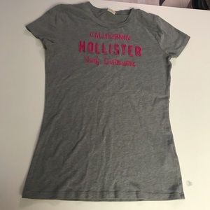 Gray and Pink Hollister Tee